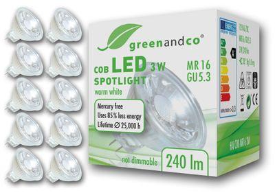 LED Spot ersetzt 25W GU5.3 3W 240lm 2700K warmweiß 38° 12V AC/DC nicht dimmbar 2 Jahre Garantie – Bild 4