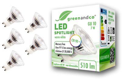 CRI90+ LED Spot ersetzt 60W GU10 7W 510lm 3000K warmweiß 36° 230V, flimmerfrei, nicht dimmbar, 2 Jahre Garantie – Bild 2