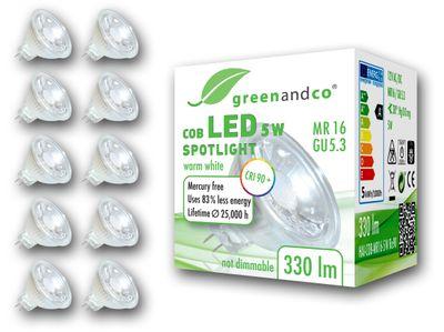 LED Spot CRI 90+ ersetzt 30W GU5.3 MR16 5W 330lm 3000K warmweiß 38° 12V AC/DC nicht dimmbar 2 Jahre Garantie – Bild 4