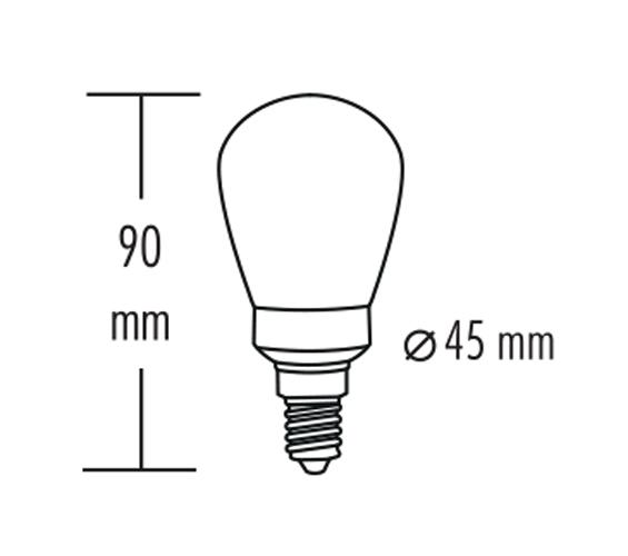 greenandco Vintage LED Lampe zur Stimmungsbeleuchtung E14 ST45 2W 45lm 2000K