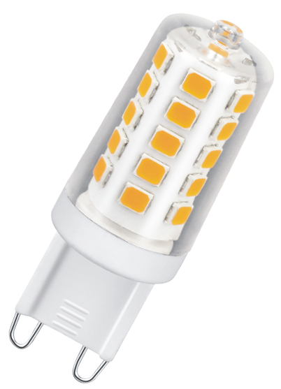 greenandco® CRI 95+ dimmable G9 LED Bulb 3W replaces 25W 250lm 2700K (warm white) 320° beam angle 230V AC, no flicker