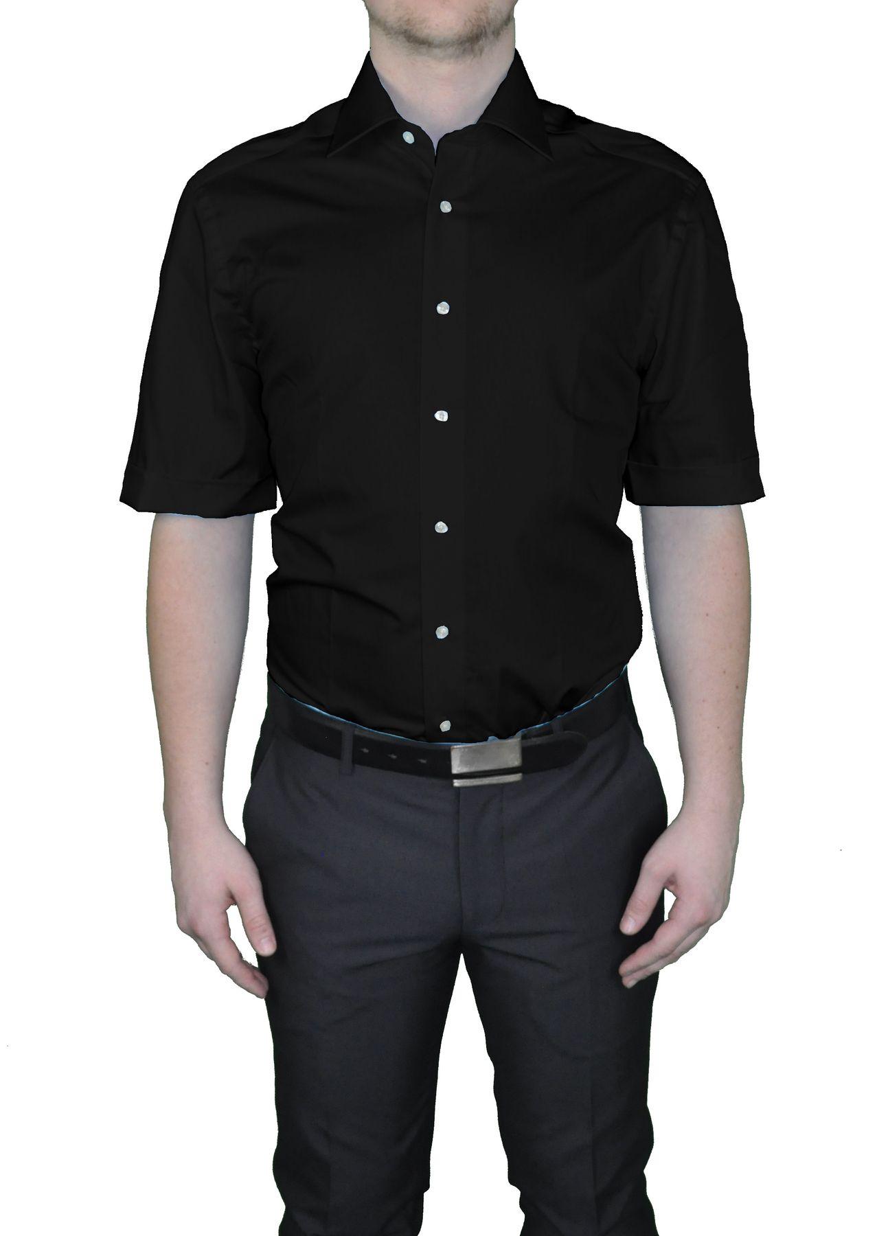 Bügelfreies Herren Kurzarm Hemd in verschiedenen Farben, Stil: BODY CUT, Marke REDMOND(150910 A) – Bild 22