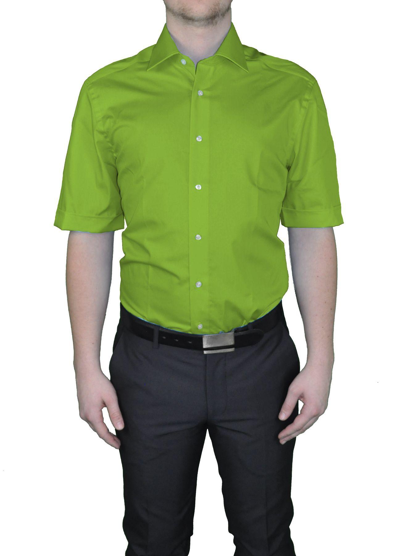 Bügelfreies Herren Kurzarm Hemd in verschiedenen Farben, Stil: BODY CUT, Marke REDMOND(150910 A) – Bild 25