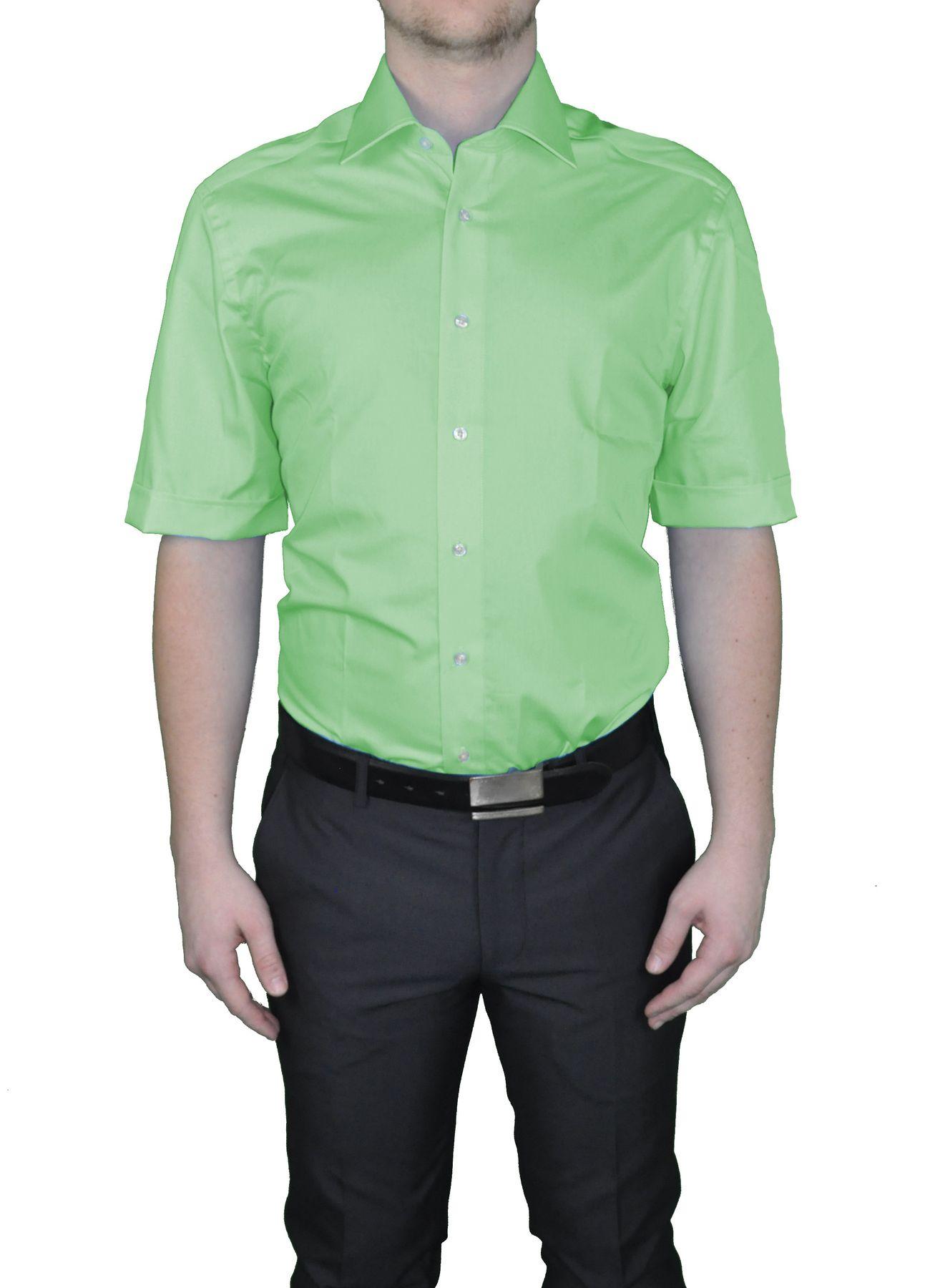 Bügelfreies Herren Kurzarm Hemd in verschiedenen Farben, Stil: BODY CUT, Marke REDMOND(150910 A) – Bild 18