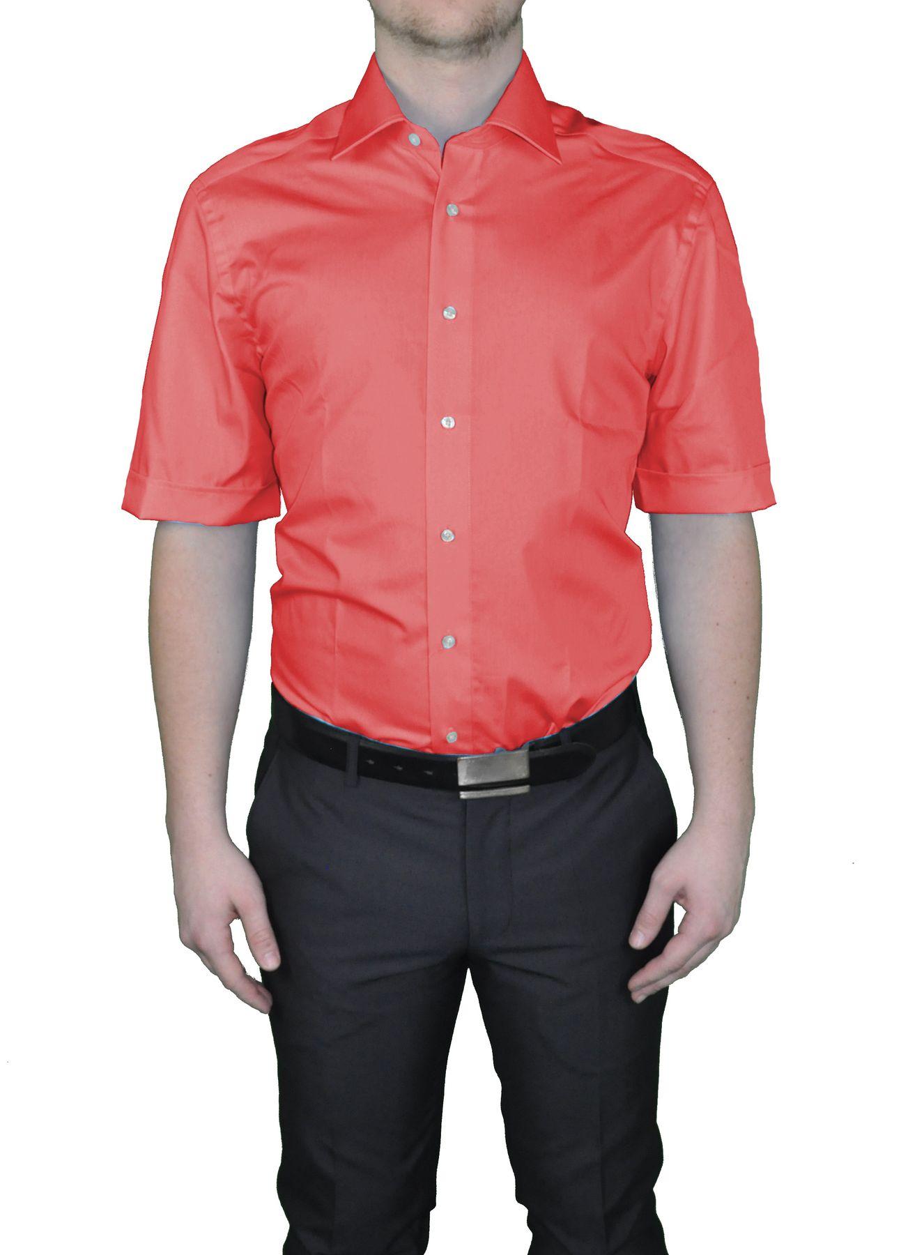 Bügelfreies Herren Kurzarm Hemd in verschiedenen Farben, Stil: BODY CUT, Marke REDMOND(150910 A) – Bild 24