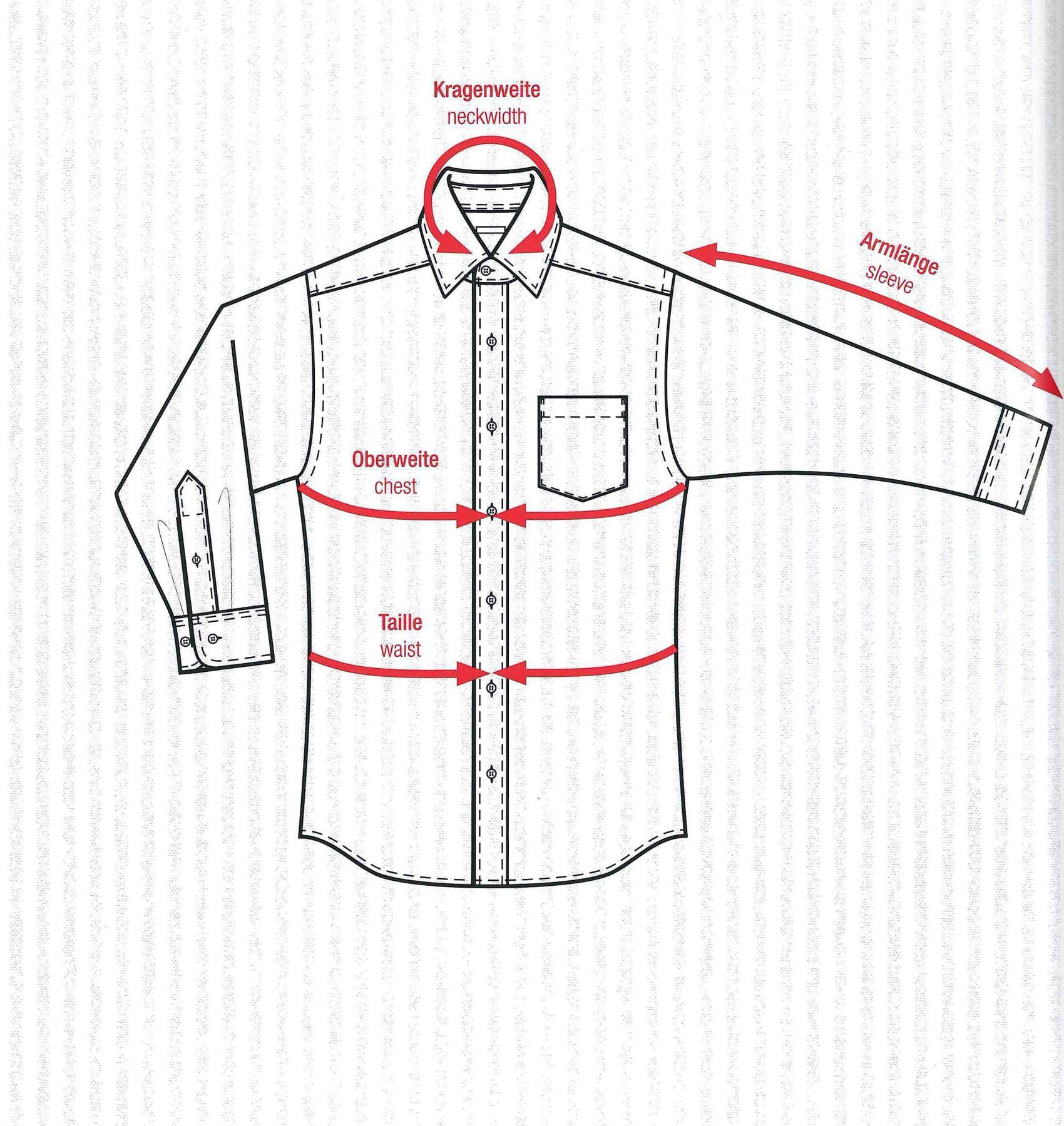 Bügelfreies Herren Kurzarm Hemd in verschiedenen Farben, Stil: BODY CUT, Marke REDMOND(150910 A) – Bild 4
