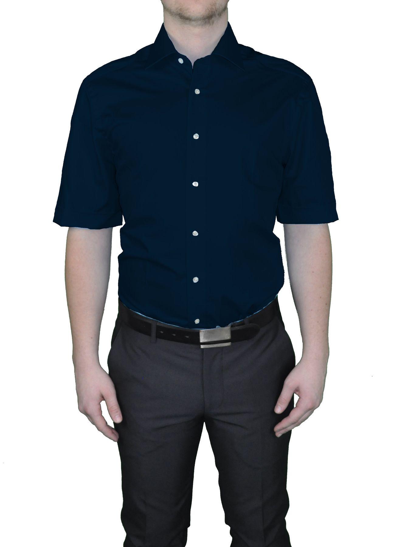 Bügelfreies Herren Kurzarm Hemd in verschiedenen Farben, Stil: BODY CUT, Marke REDMOND(150910 A) – Bild 12