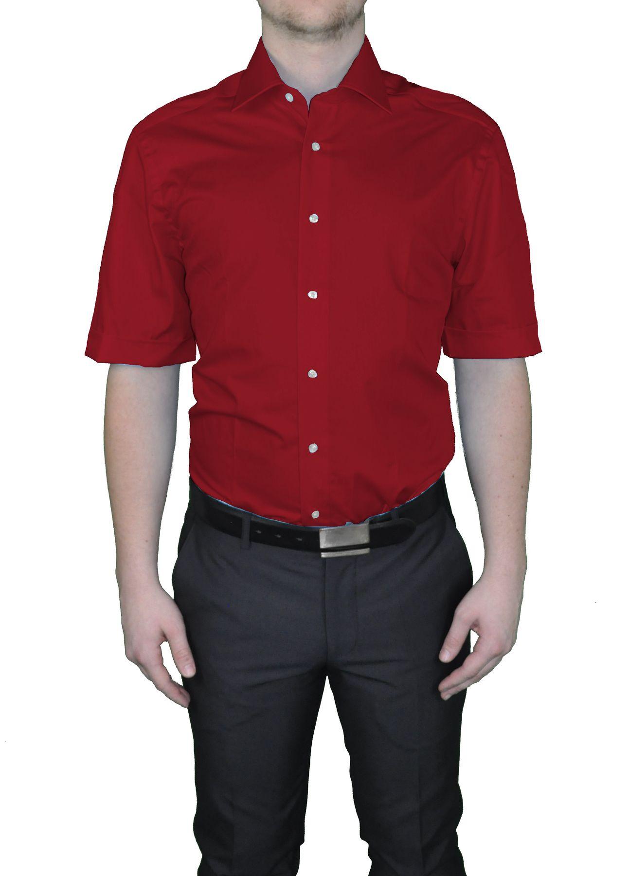 Bügelfreies Herren Kurzarm Hemd in verschiedenen Farben, Stil: BODY CUT, Marke REDMOND(150910 A) – Bild 5