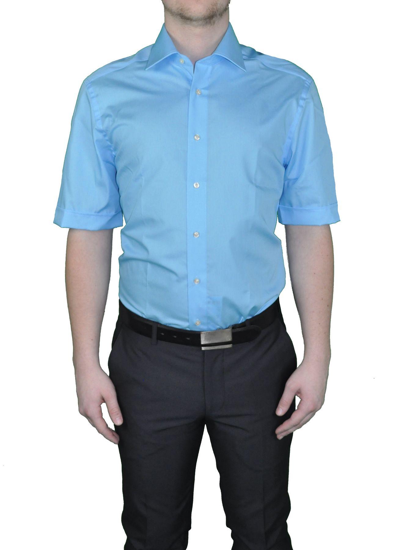 Bügelfreies Herren Kurzarm Hemd in verschiedenen Farben, Stil: BODY CUT, Marke REDMOND(150910 A) – Bild 14