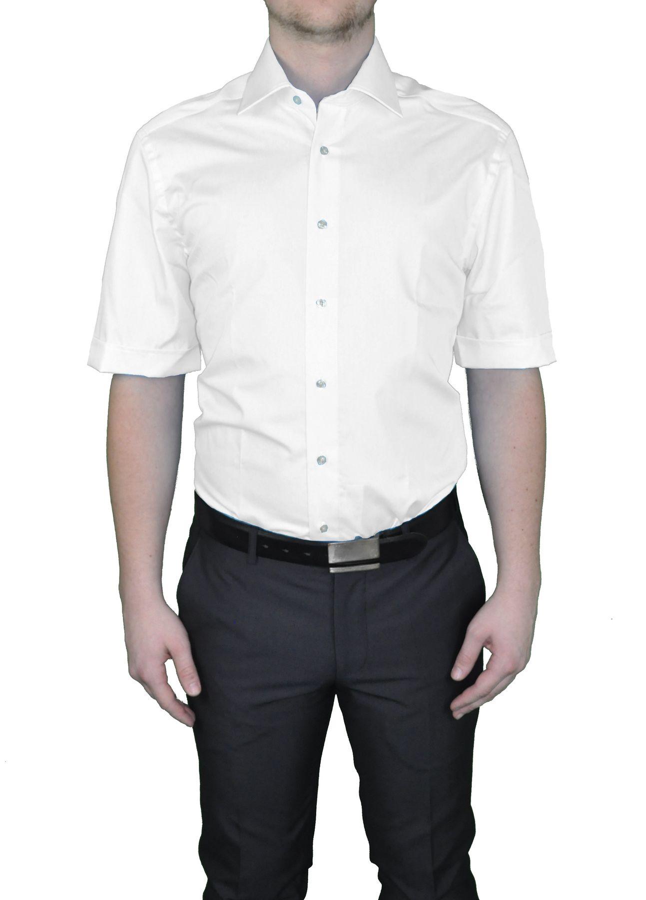 Bügelfreies Herren Kurzarm Hemd in verschiedenen Farben, Stil: BODY CUT, Marke REDMOND(150910 A) – Bild 1