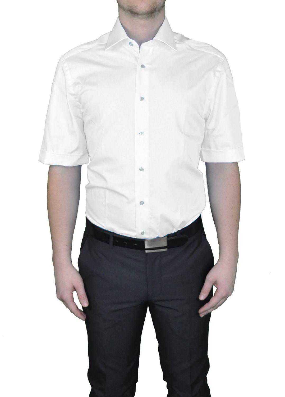 Bügelfreies Herren Kurzarm Hemd in verschiedenen Farben, Stil: BODY CUT, Marke REDMOND(150910 A)