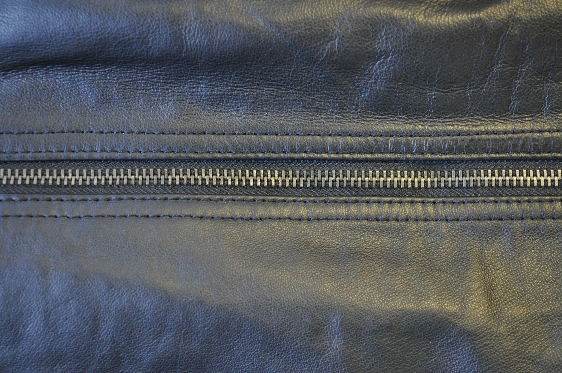 Damen Leder Rock schwarz mit Reißverschluss Größe 36-52 – Bild 4