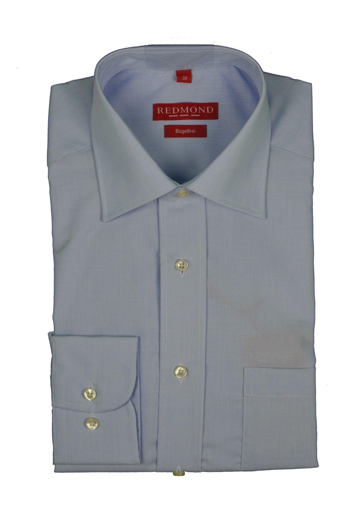 Redmond - Regular Fit - Bügelfreies Herren Langarm Hemd in verschiedenen Fil à Fil Farbmustern (200 100) – Bild 4