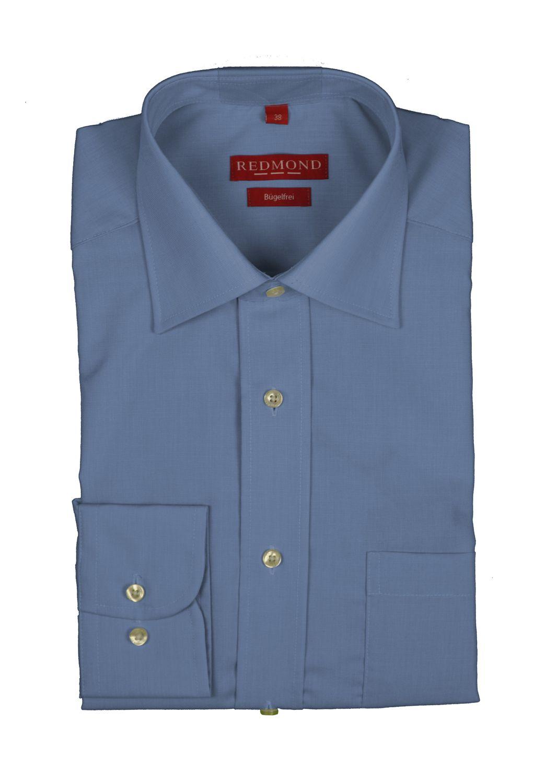 Redmond - Regular Fit - Bügelfreies Herren Langarm Hemd in verschiedenen Fil à Fil Farbmustern (200 100)