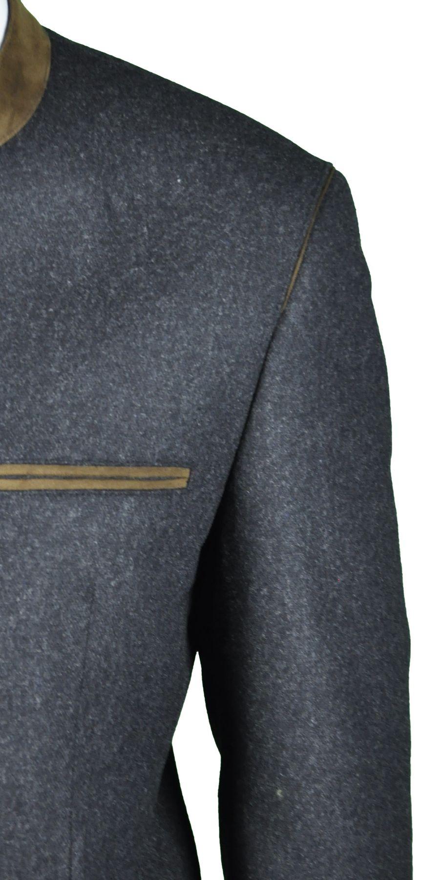 Herren Trachten Janker aus Wolle in der Farbe Anthrazit, Alpsee (526 1084/7660-8/01) – Bild 2