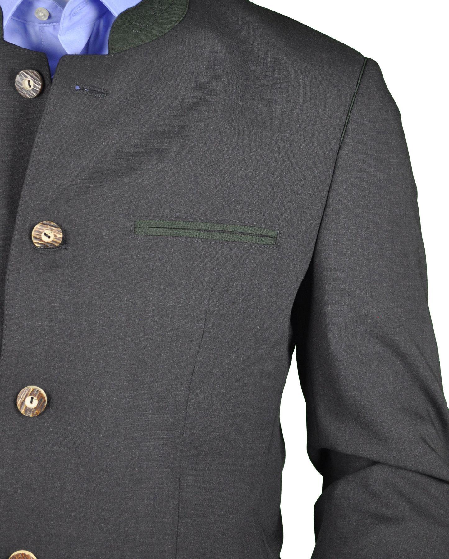Herren Trachten Anzug aus Schurwolle, Marke Weis in der Farbe Anthrazit, Rottach/Egern (7026/7367-4/42/01) – Bild 3