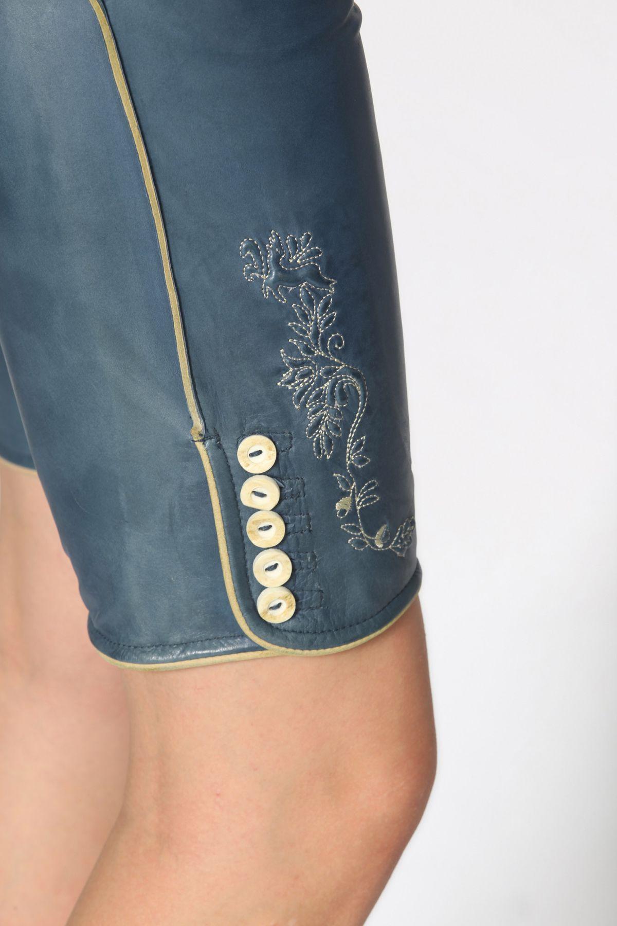 Stockerpoint - Damen Trachten Lederhose aus Ziegen Nappa Leder, Knielang,  Pam – Bild 11
