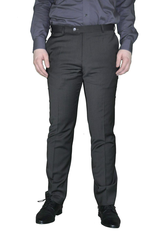 Herren Baukasten Hose mit modischen Streifen in Dunkelbraun, Stil: Regular Fit, Marke: Weis, Mike(Art.: 106 1043) 001