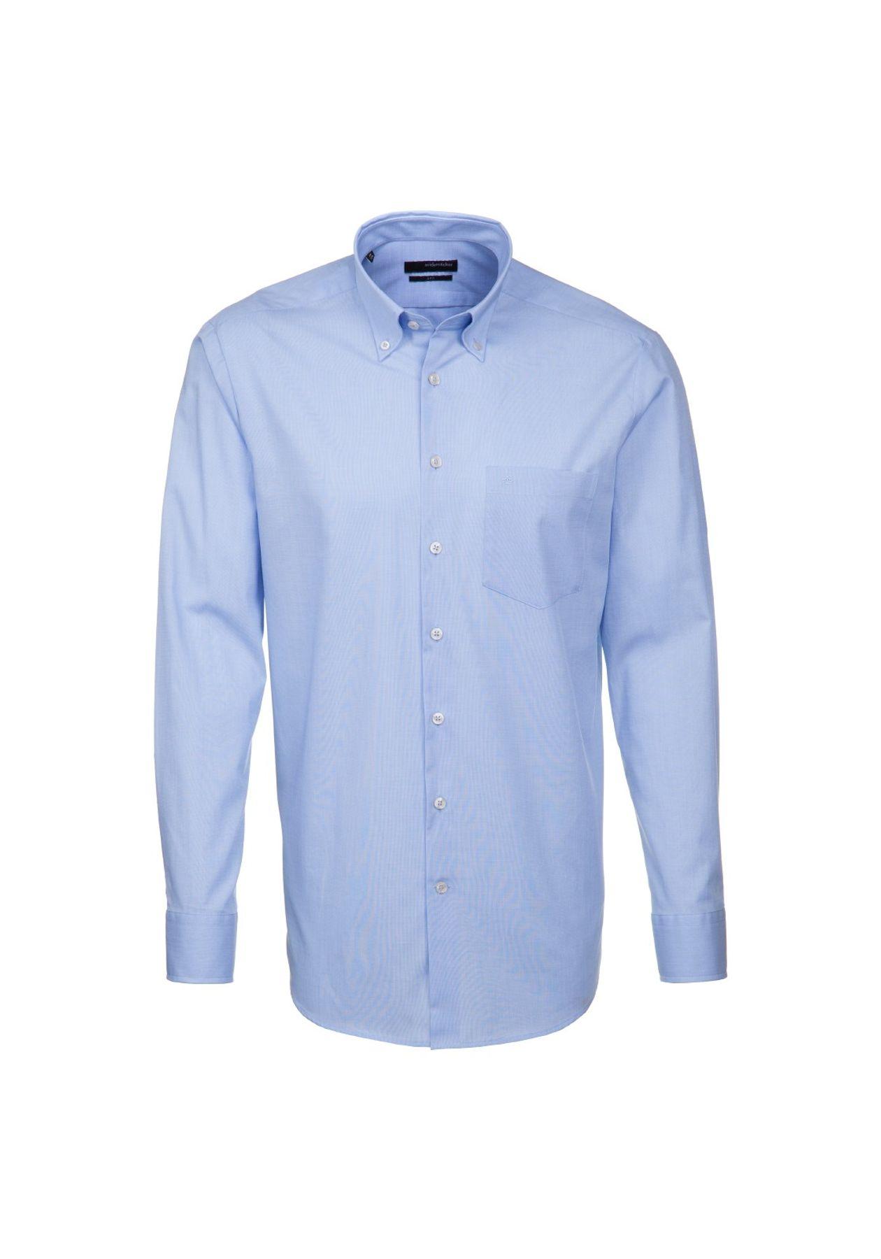 Seidensticker UNO - Regular Fit - Bügelleichtes Herren Langarm Hemd mit Button Down Kragen (01.030302)
