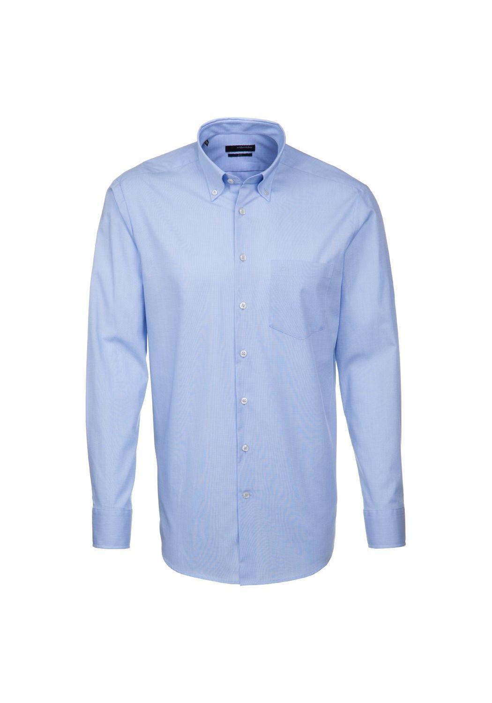 Seidensticker UNO - Regular Fit - Bügelleichtes Herren Langarm Hemd mit Button Down Kragen (01.030302) 001