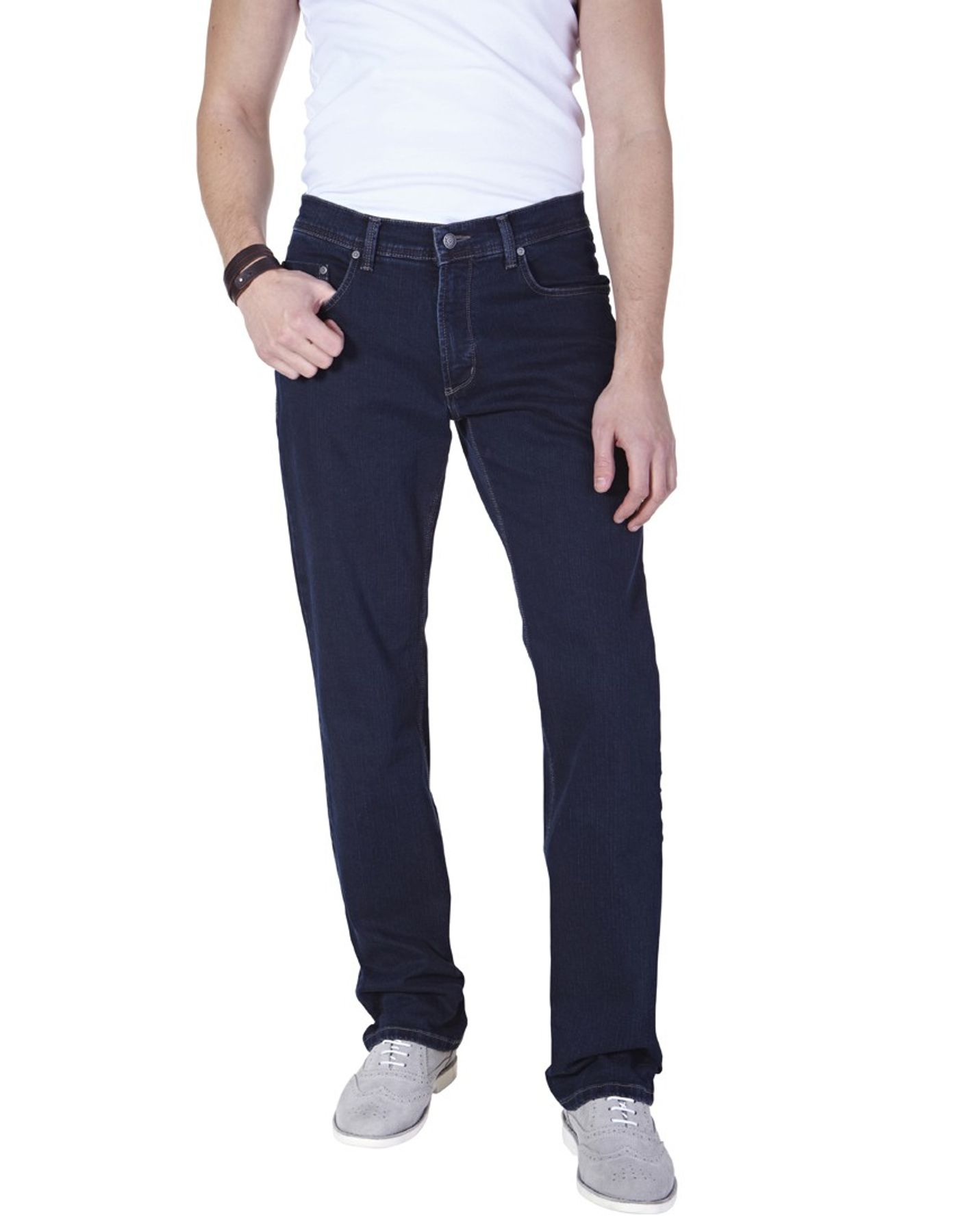 Pioneer - Herren 5-Pocket Jeans in der Farbe Dunkelblau, Regular Fit, Rando (1680 9738 02) – Bild 1