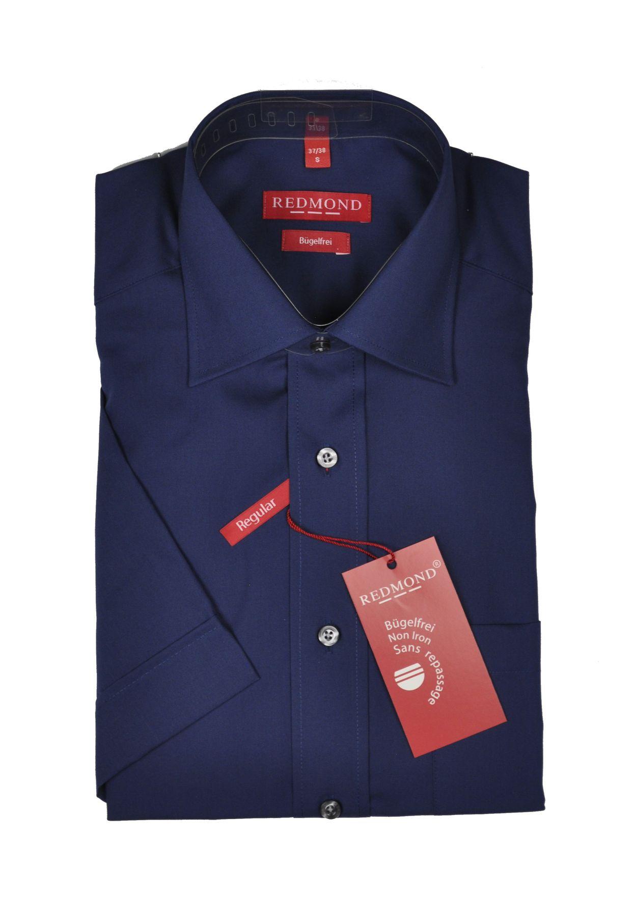 Bügelfreies Herren Halbarm Hemd in verschiedenen Fil à Fil Farbmustern, Stil: Regular Fit, Marke REDMOND (200 900)
