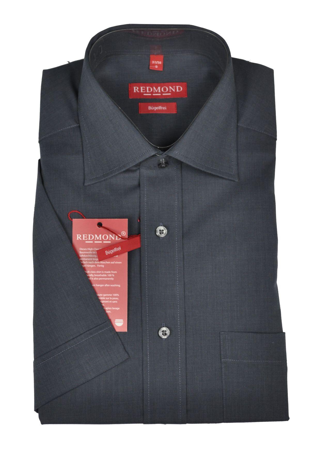 Bügelfreies Herren Halbarm Hemd in verschiedenen Fil à Fil Farbmustern, Stil: Regular Fit, Marke REDMOND (200 900) – Bild 2