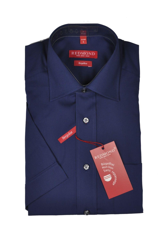 Bügelfreies Herren Halbarm Hemd in verschiedenen Fil à Fil Farbmustern, Stil: Regular Fit, Marke REDMOND (200 900) 001