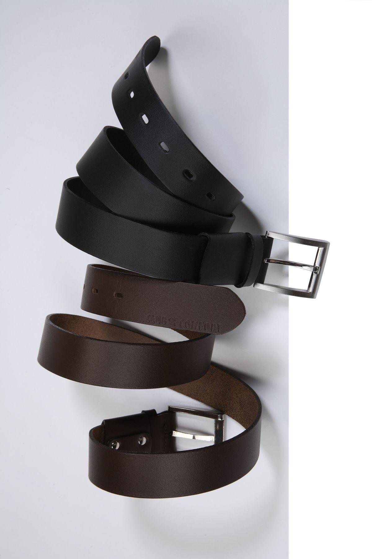 Herren Leder Stretch Gürtel der Marke CLUB OF COMFORT in Braun oder Schwarz (50) – Bild 1
