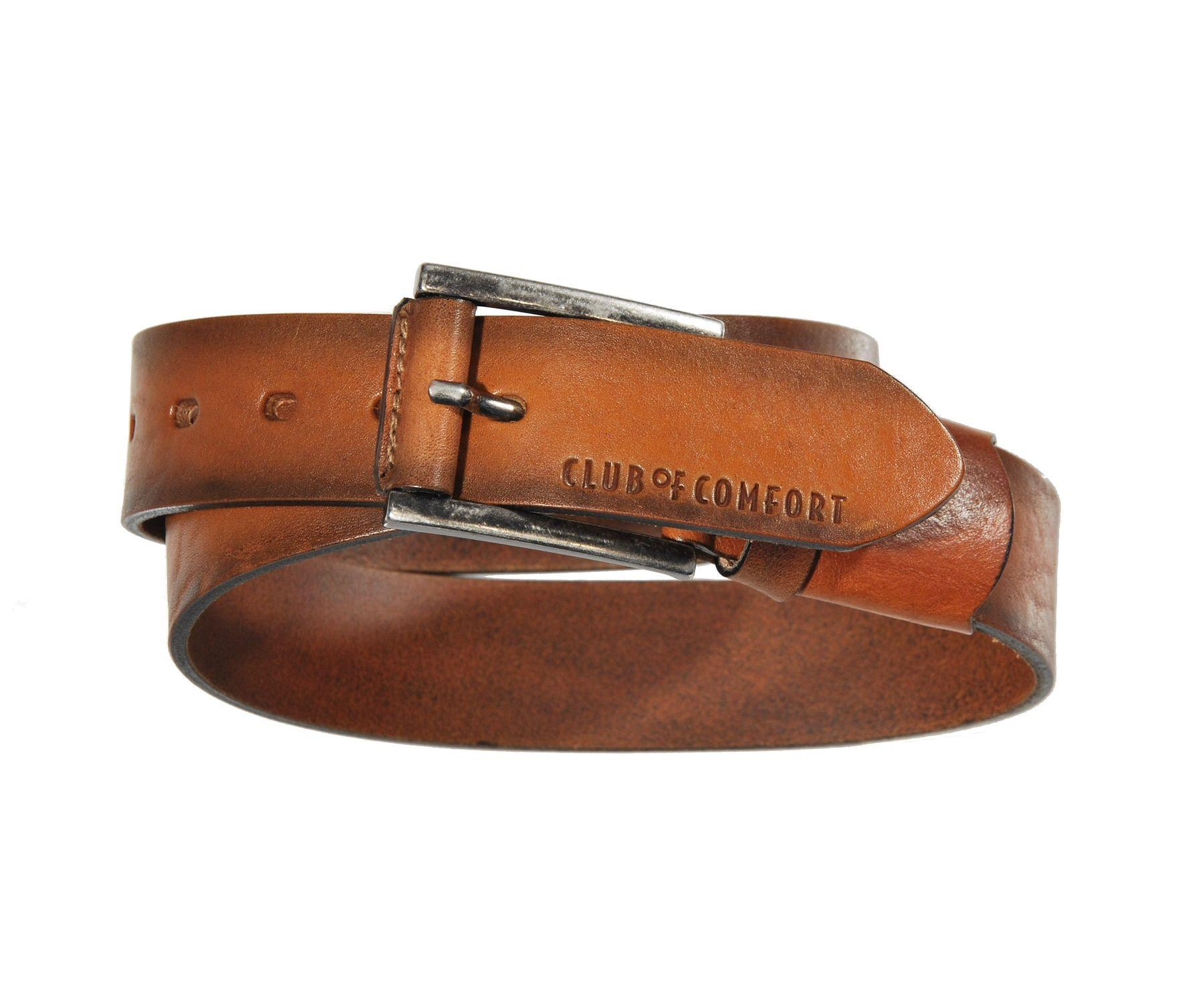 Herren Leder Stretch Gürtel der Marke CLUB OF COMFORT in Braun, Cognac oder Schwarz (54) – Bild 1