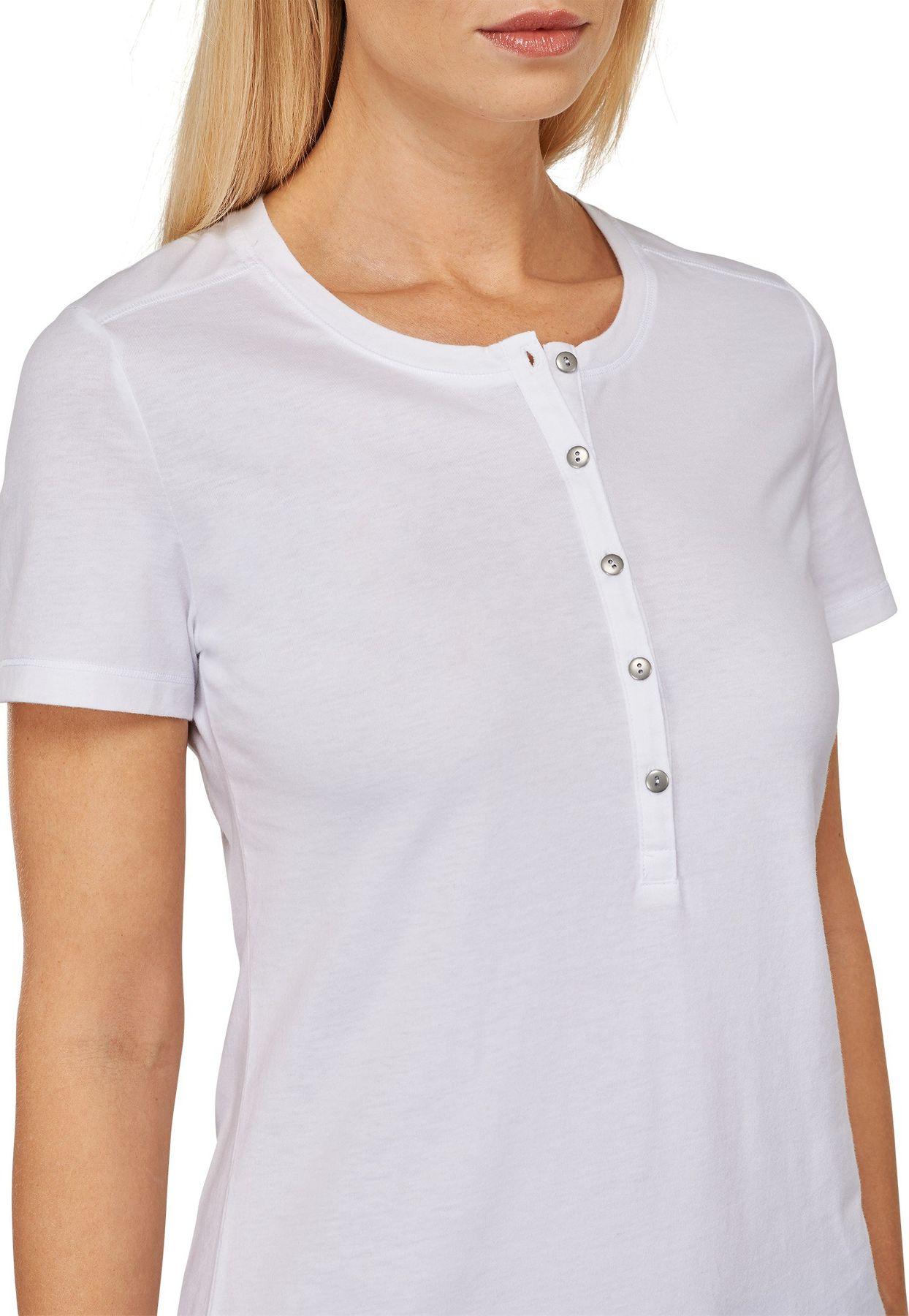 """Schiesser - Damen """"Mix & Relax"""" T-Shirt mit Knopfleiste, 151502 – Bild 4"""