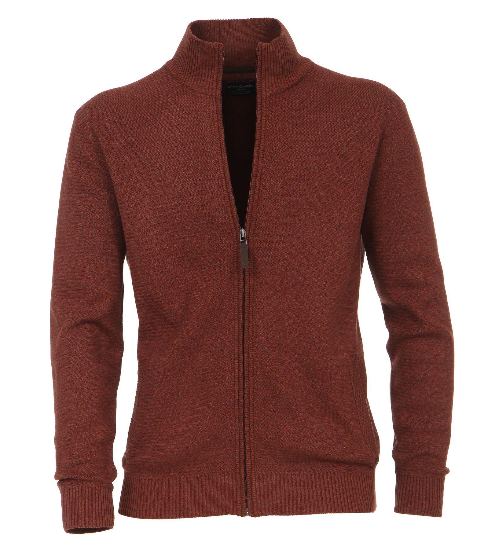 Casa Moda - Herren Strickjacke aus 100% Baumwolle mit Stehkragen (462521300A) – Bild 5