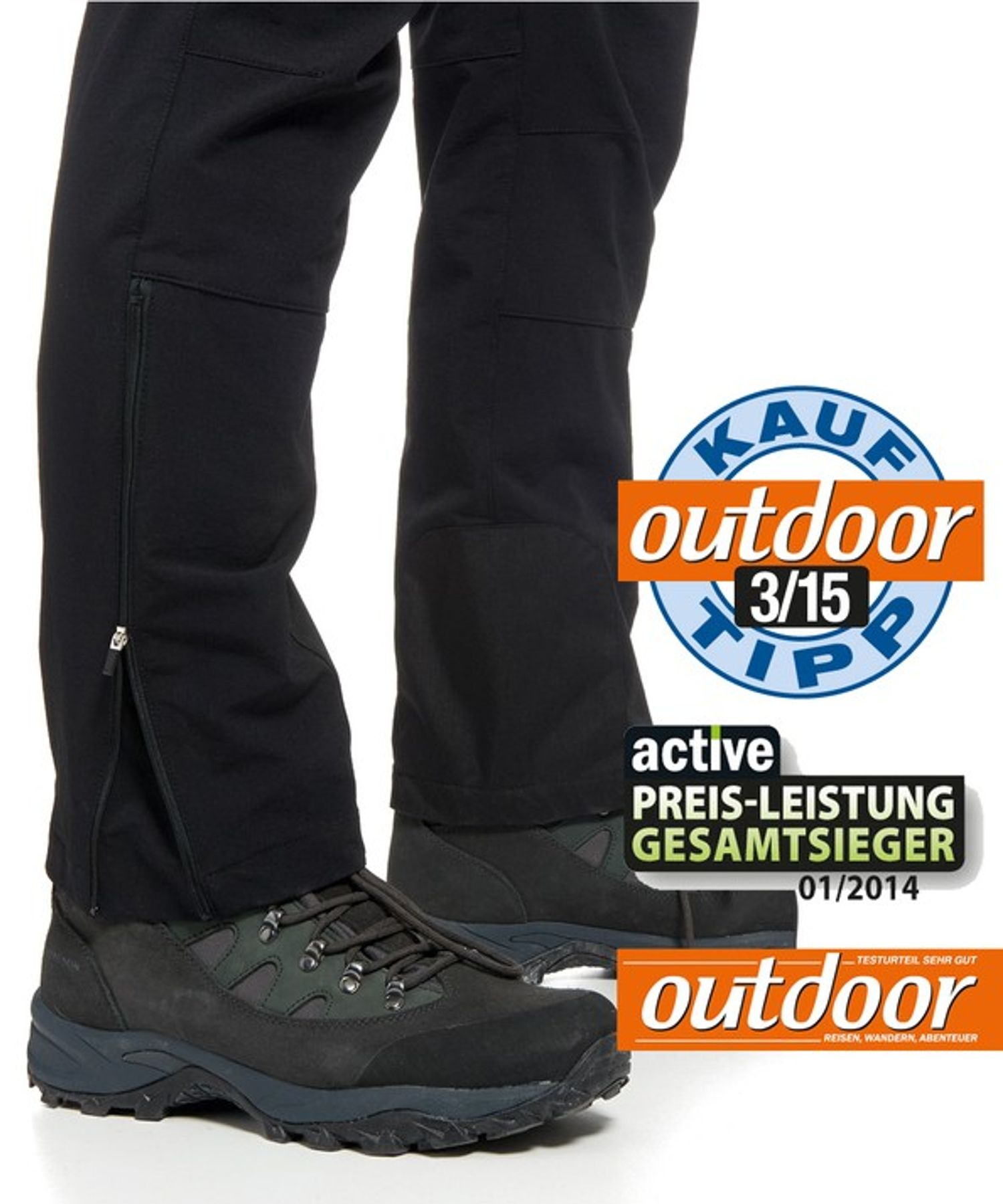 Maier Sports- Herren Outdoor- Touren - und Wanderhose in Black Artikel Naturno (136003) – Bild 3