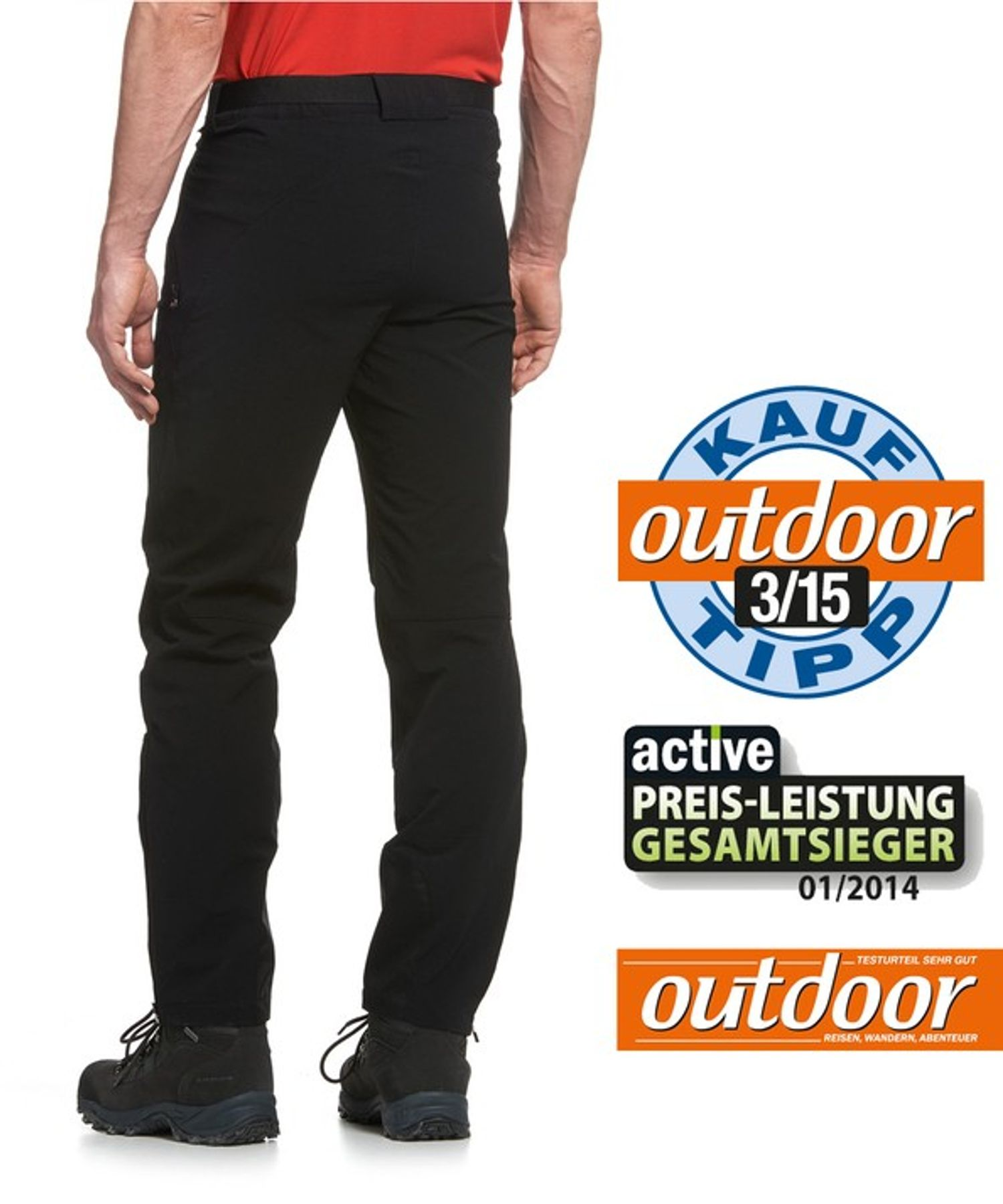 Maier Sports- Herren Outdoor- Touren - und Wanderhose in Black Artikel Naturno (136003) – Bild 2
