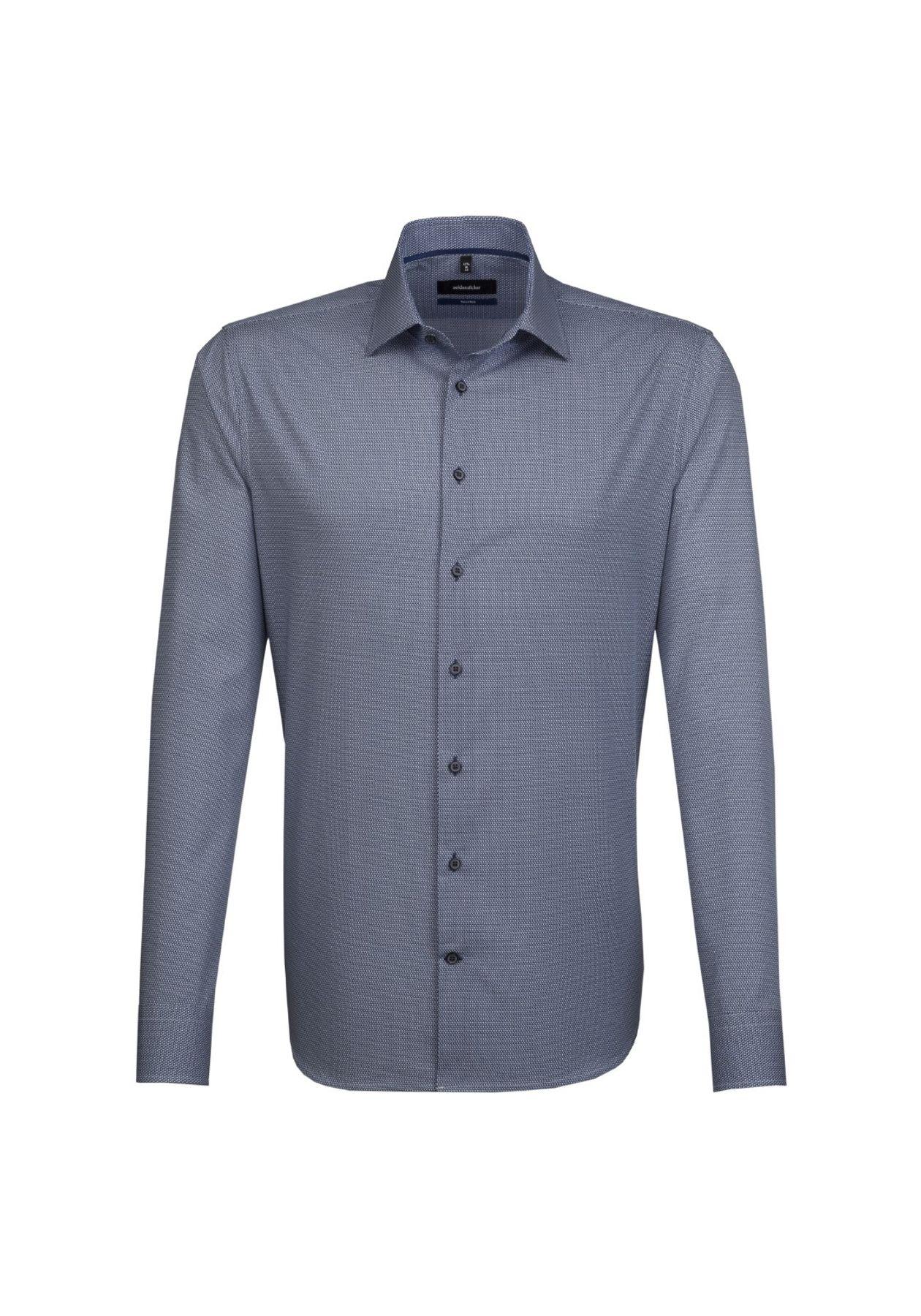 Seidensticker - Herren Hemd, Bügelleicht, Tailored, Schwarze Rose mit Kent Kragen in Blau (01.246240) – Bild 1