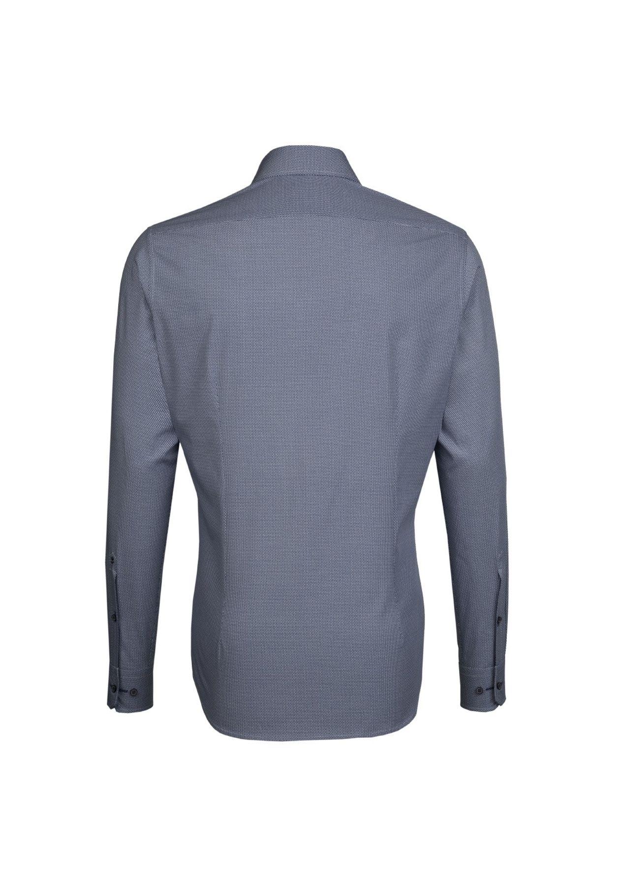 Seidensticker - Herren Hemd, Bügelleicht, Tailored, Schwarze Rose mit Kent Kragen in Blau (01.246240) – Bild 2
