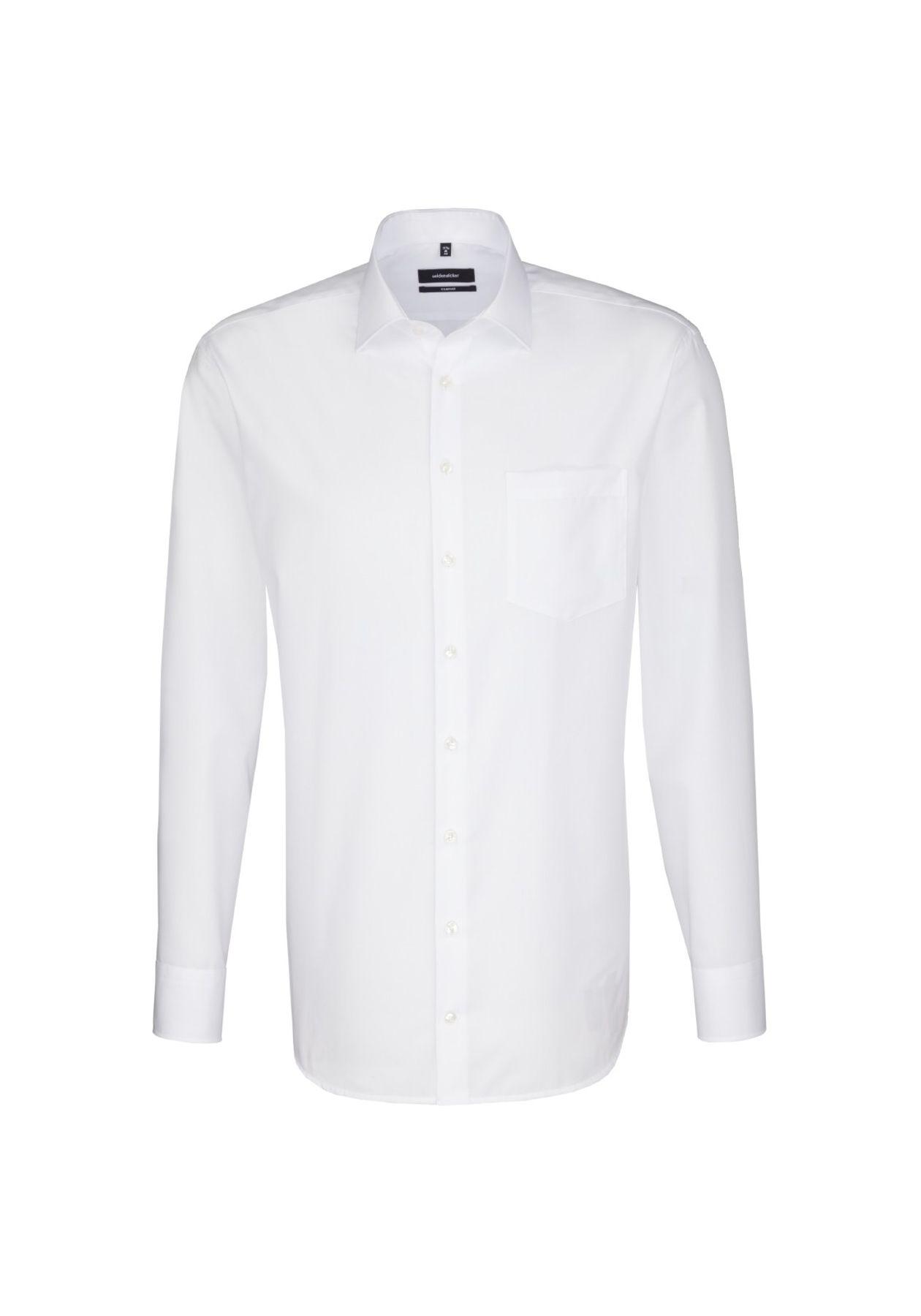 Seidensticker - Herren Hemd, Bügelfrei, Comfort, Schwarze Rose mit Kent Kragen in Weiß (01.312420) – Bild 1