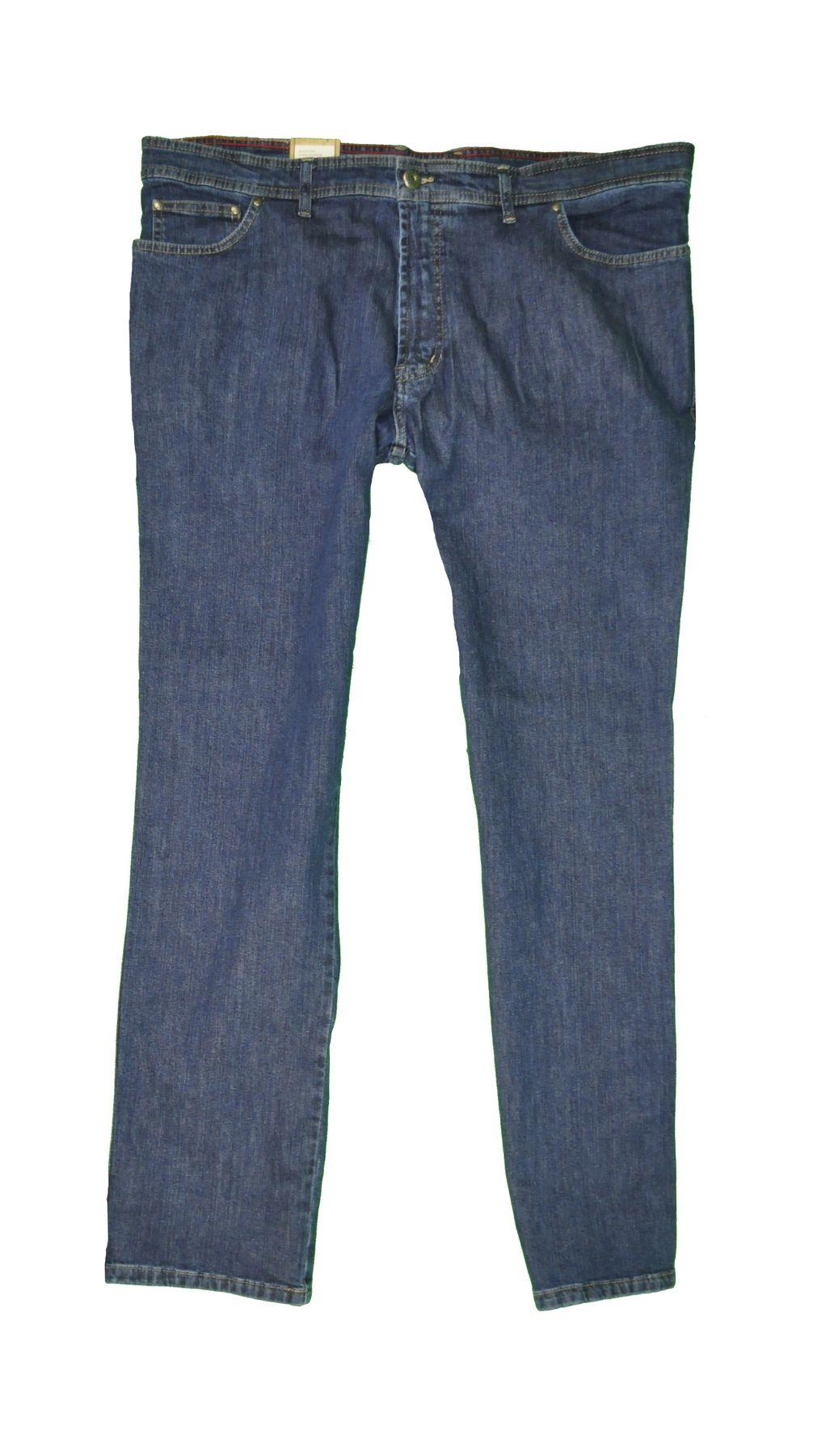 Herren 5 Pocket Jeans in Übergrößen mit Stretch Bund in Schwarz oder Blau (15204100) – Bild 5