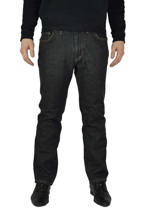 Herren Jeans in Übergrößen mit Stretch Bund in Schwarz oder Blau (1520)