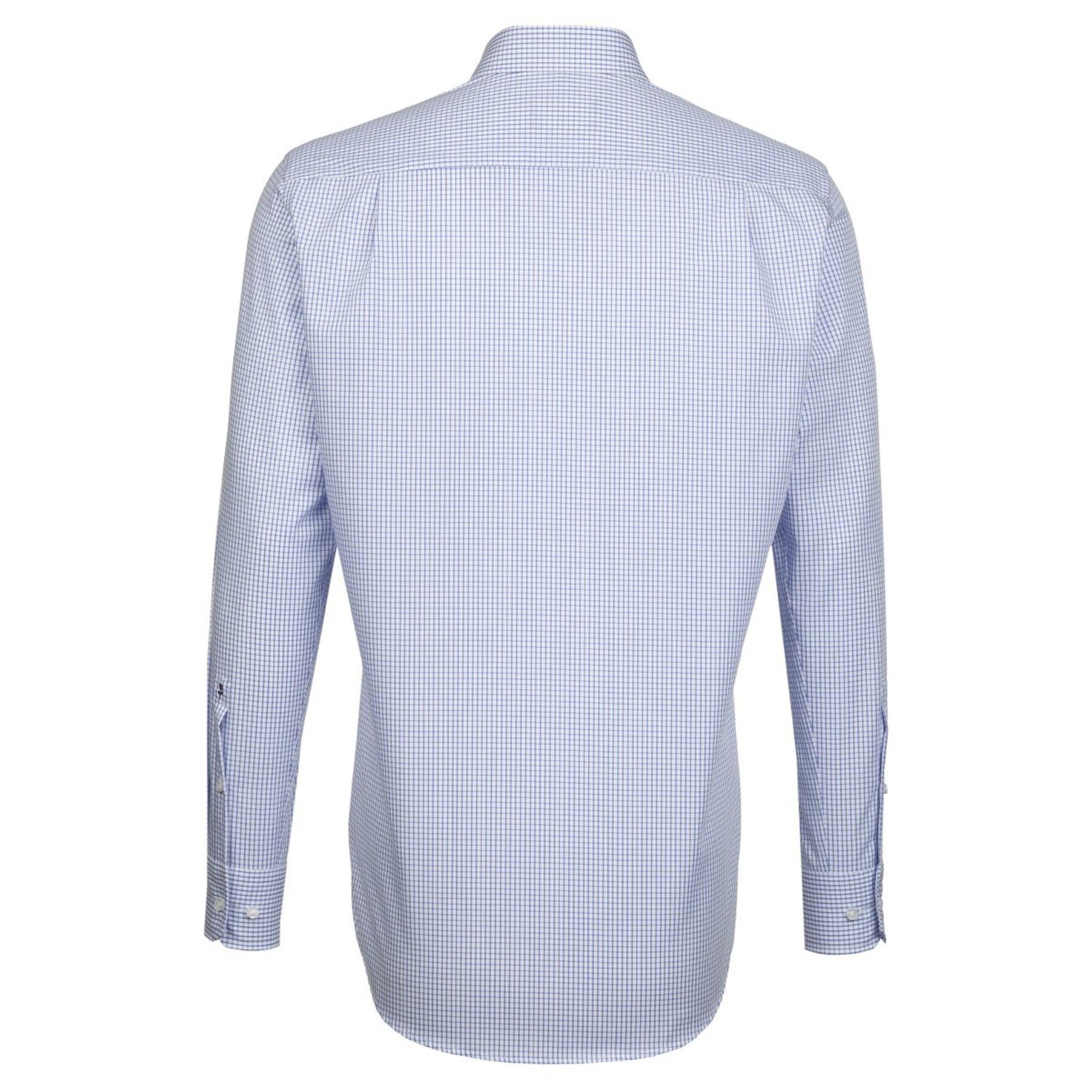 Seidensticker - Herren Hemd, Bügelfrei, Modern, Schwarze Rose mit Kent Kragen in Hellblau mit Streifen oder Karo oder in uni (01.003100) – Bild 10