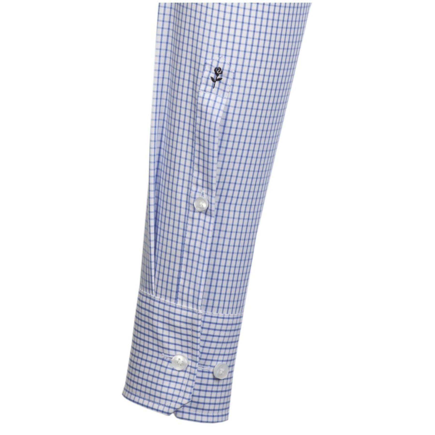 Seidensticker - Herren Hemd, Bügelfrei, Modern, Schwarze Rose mit Kent Kragen in Hellblau mit Streifen oder Karo oder in uni (01.003100) – Bild 11
