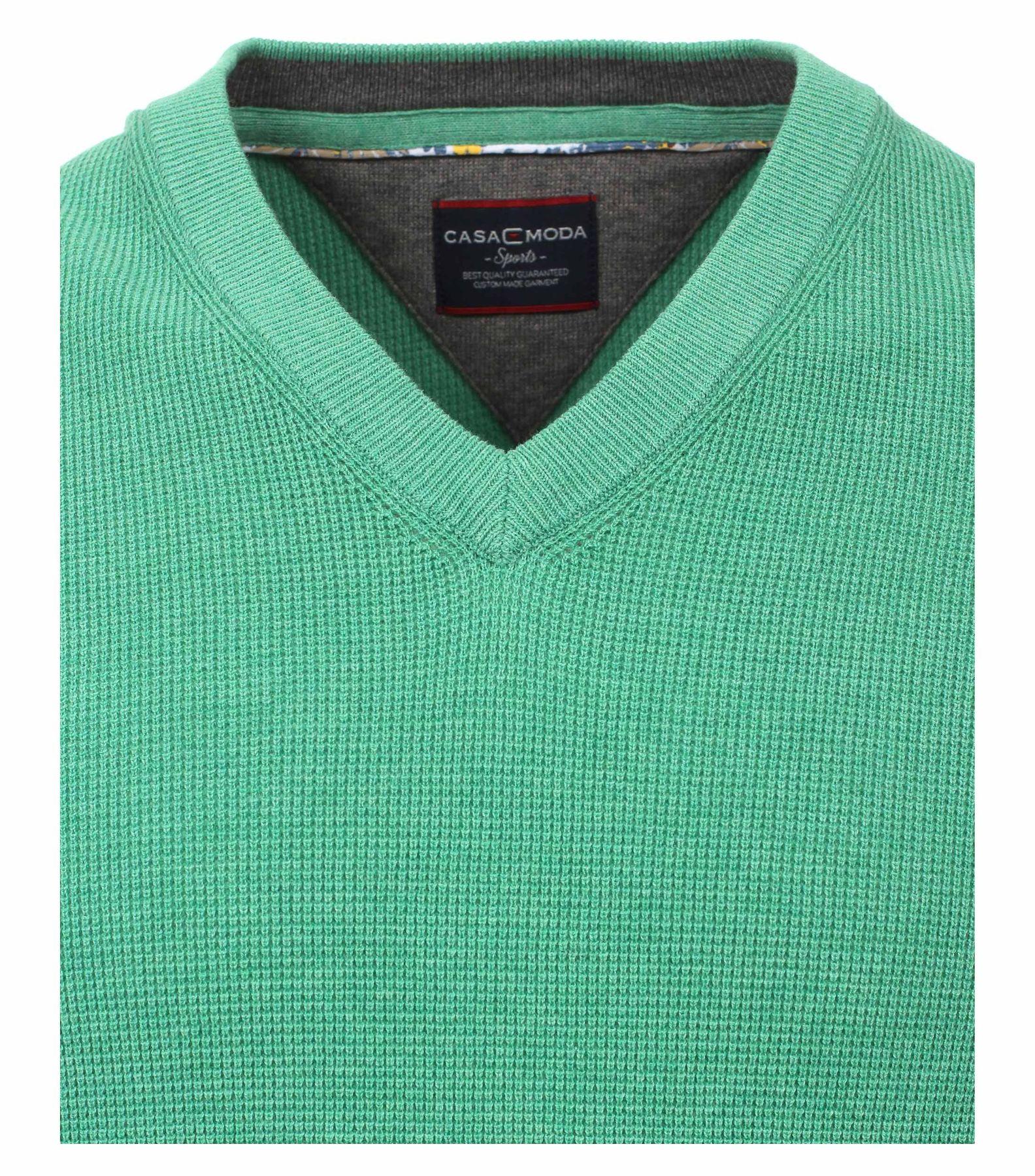 Casa Moda - Unifarbener Herren Pullover mit V-Ausschnitt  (472625000) – Bild 9