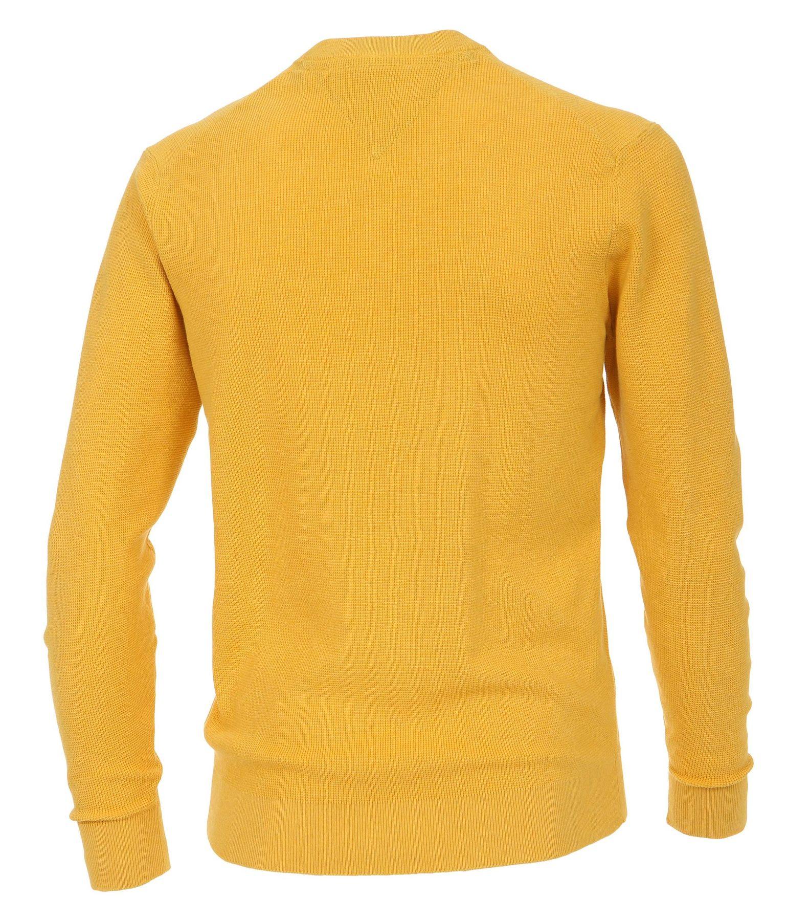 Casa Moda - Unifarbener Herren Pullover mit V-Ausschnitt  (472625000) – Bild 14