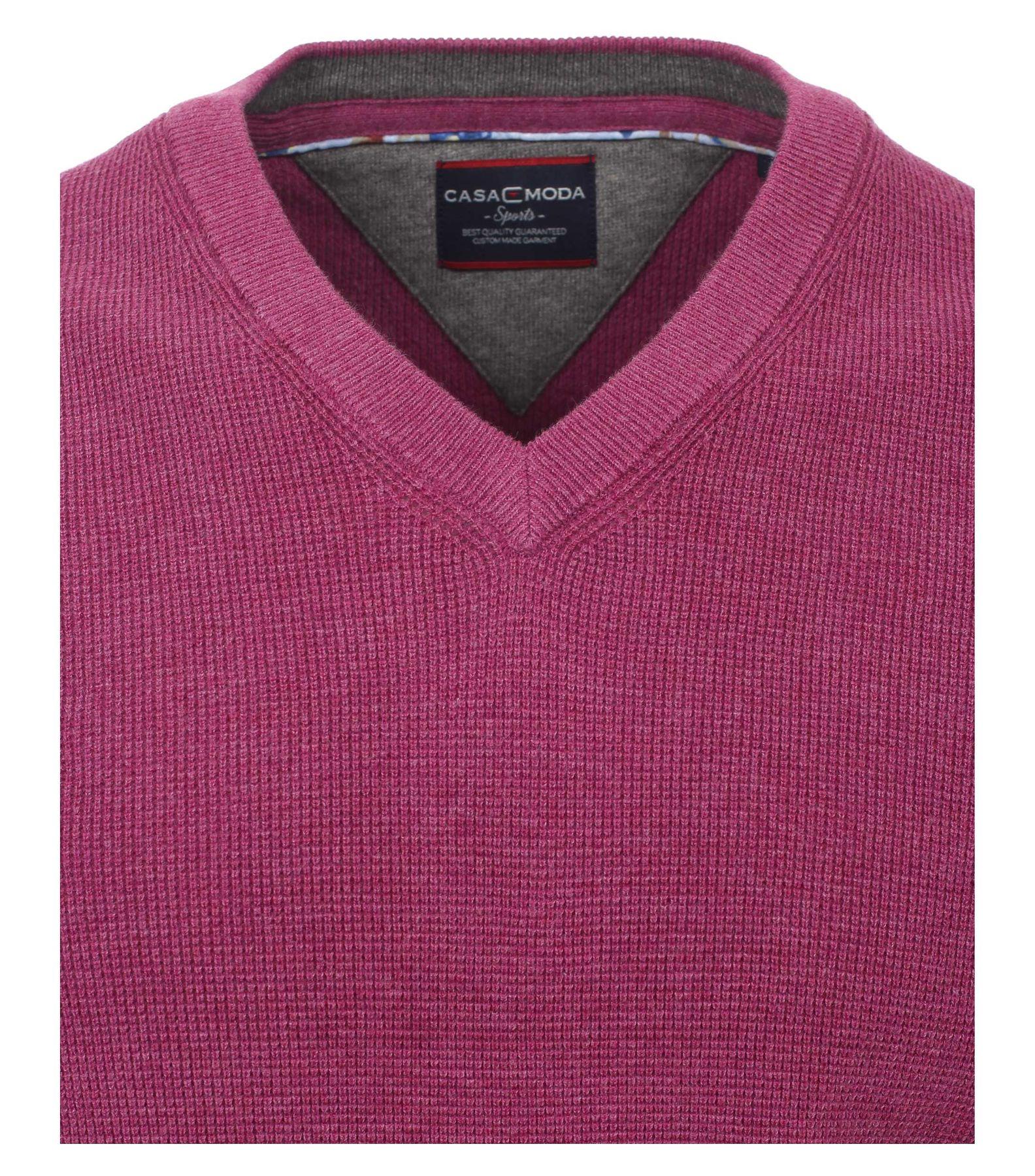 Casa Moda - Unifarbener Herren Pullover mit V-Ausschnitt  (472625000) – Bild 18