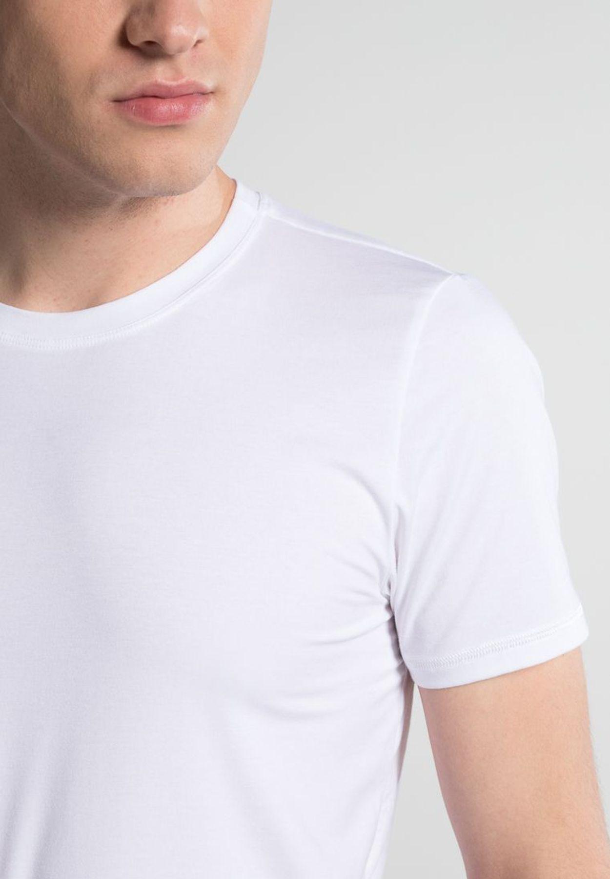 Eterna - Herren Bodyshirt mit Rundhals in schwarz und weiß (801) – Bild 11