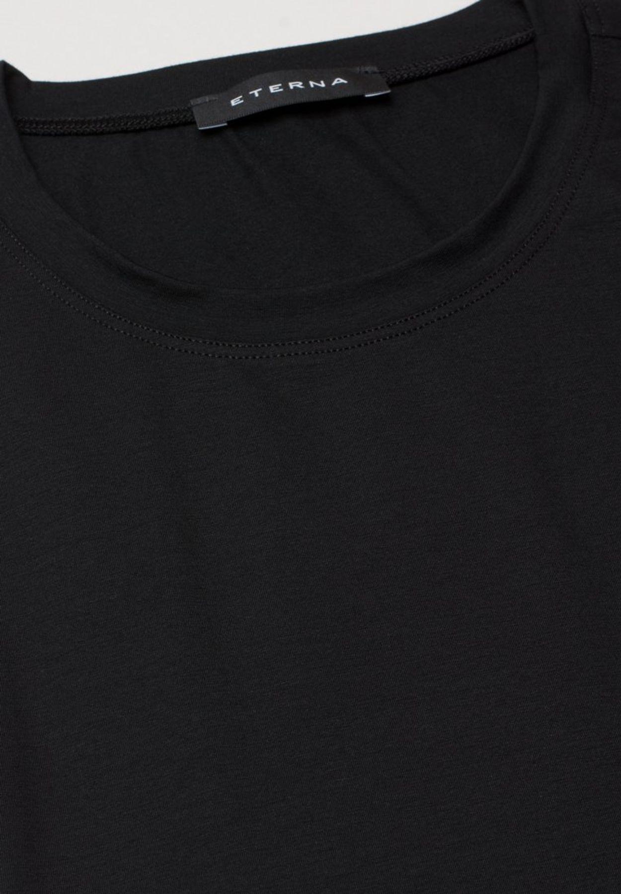 Eterna - Herren Bodyshirt mit Rundhals in schwarz und weiß (801) – Bild 5