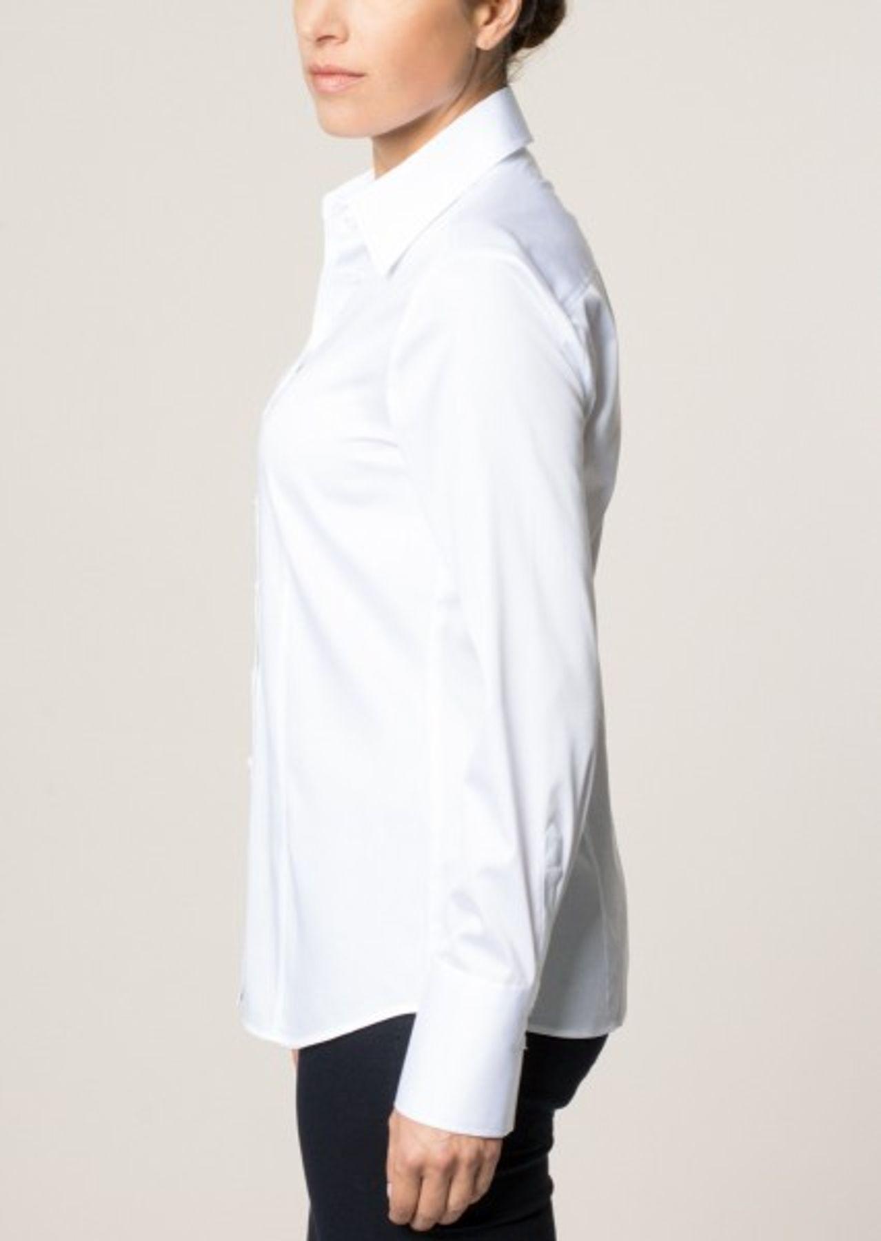 Eterna -  Comfort-Fit - Bügelfreie Damen Bluse Langarm in Weiß, Blau oder Rosé (5352 D624) – Bild 5
