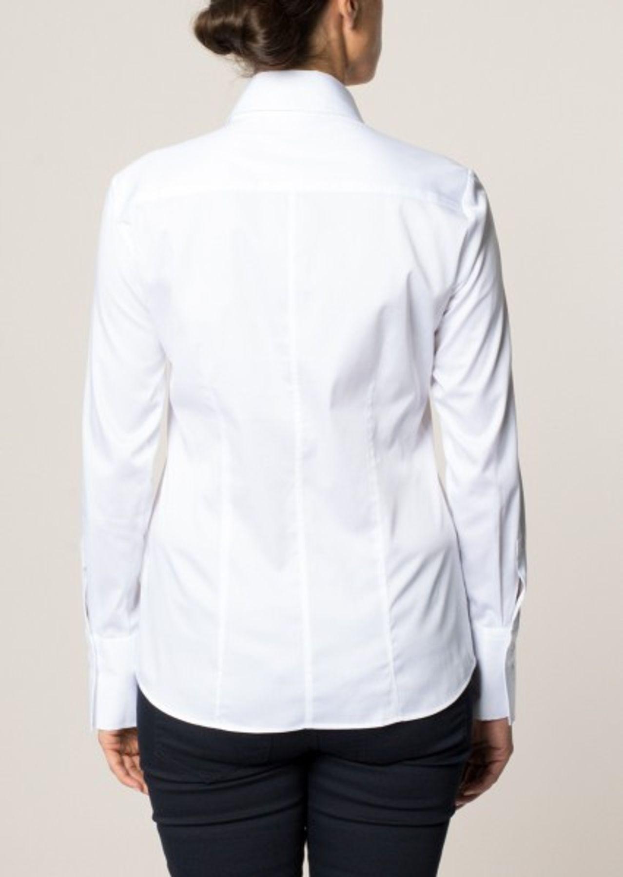 Eterna -  Comfort-Fit - Bügelfreie Damen Bluse Langarm in Weiß, Blau oder Rosé (5352 D624) – Bild 2