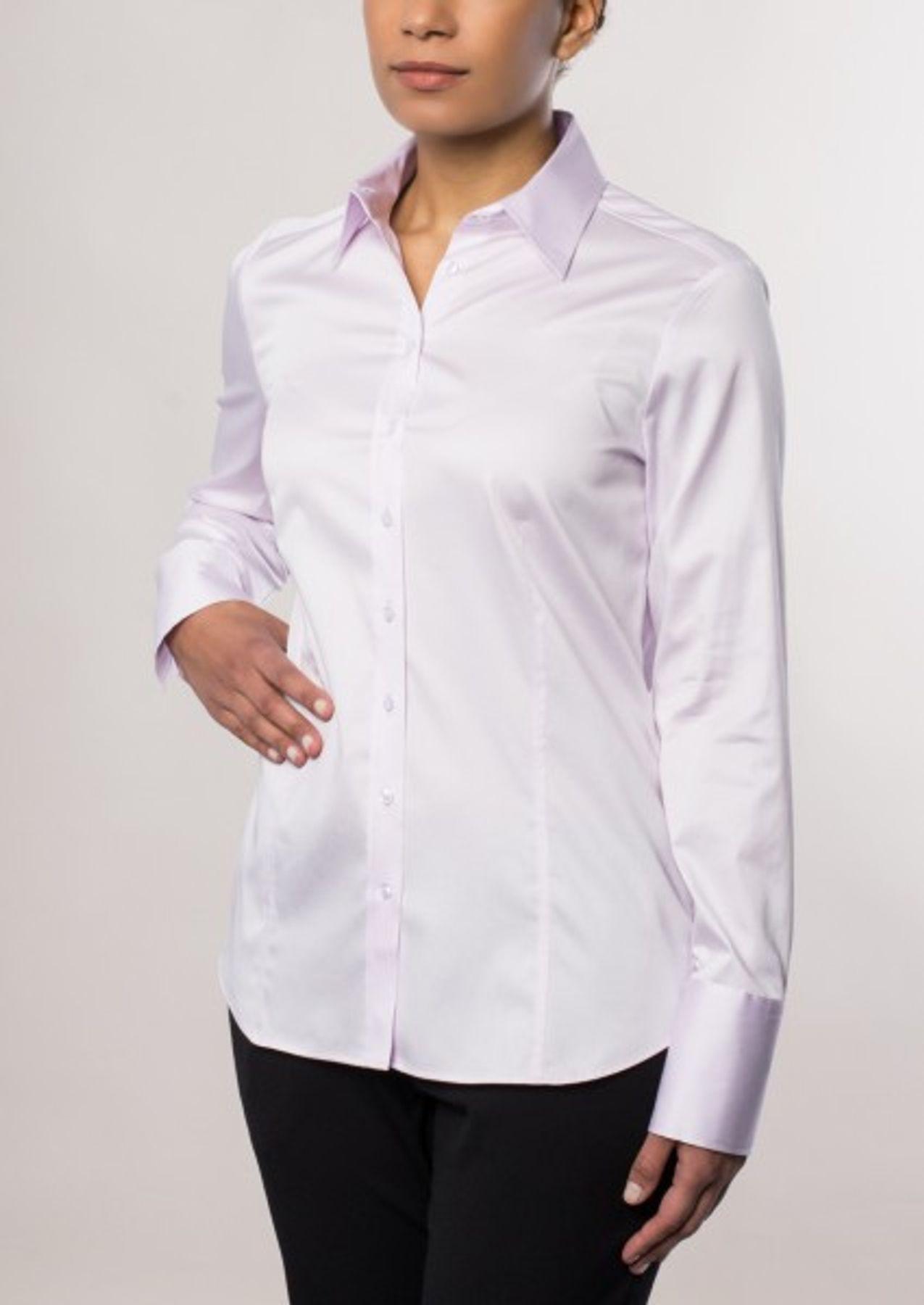 Eterna -  Comfort-Fit - Bügelfreie Damen Bluse Langarm in Weiß, Blau oder Rosé (5352 D624) – Bild 6