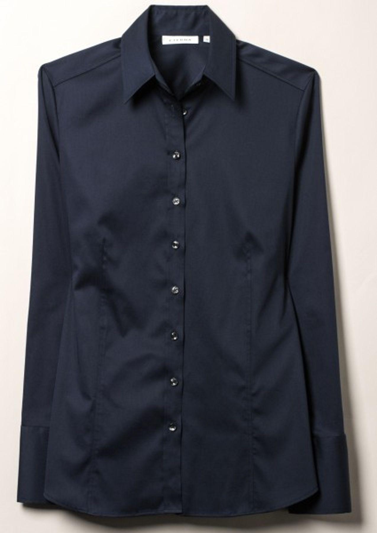 Eterna -  Comfort-Fit - Bügelfreie Damen Bluse Langarm in Weiß, Blau oder Rosé (5352 D624) – Bild 14